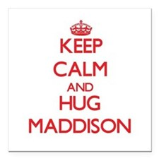 "Keep Calm and Hug Maddison Square Car Magnet 3"" x"