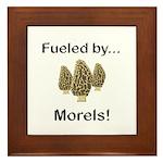 Fueled by Morels Framed Tile