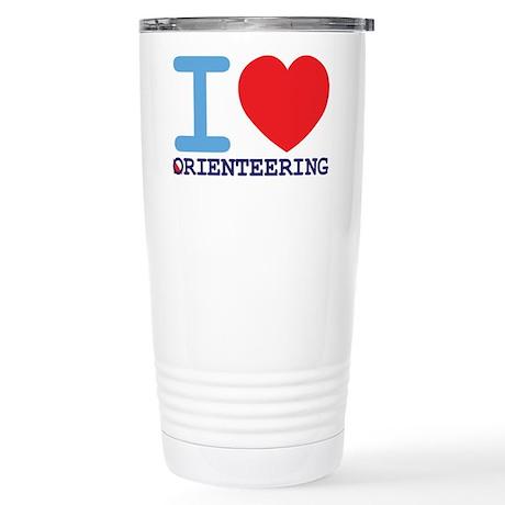 I Love Orienteering Travel Mug