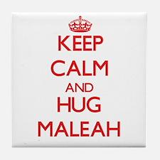Keep Calm and Hug Maleah Tile Coaster