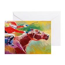 Derby Santa Greeting Cards (pk Of 10)