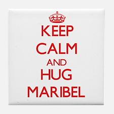 Keep Calm and Hug Maribel Tile Coaster
