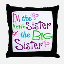 Im a little big sister Throw Pillow