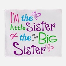 Im a littl and big sister Throw Blanket