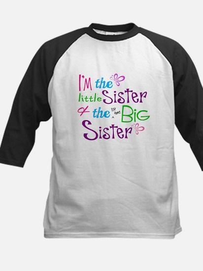 Im a littl and big sister Baseball Jersey