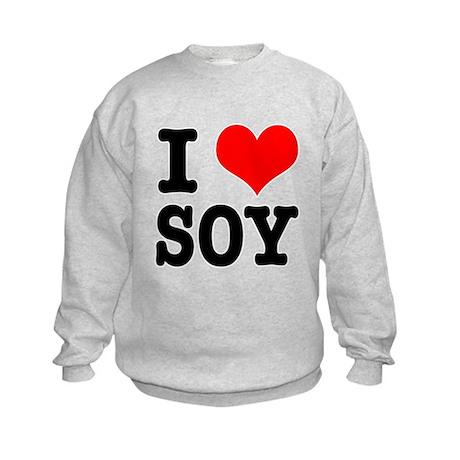I Heart (Love) Soy Kids Sweatshirt