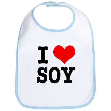 I Heart (Love) Soy Bib