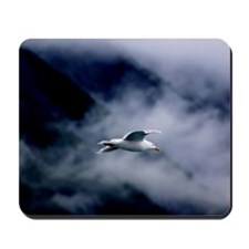 Seagull in the Clouds Mousepad