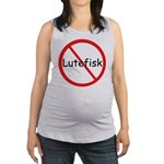 No Lutefisk Maternity Tank Top