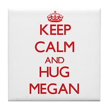 Keep Calm and Hug Megan Tile Coaster