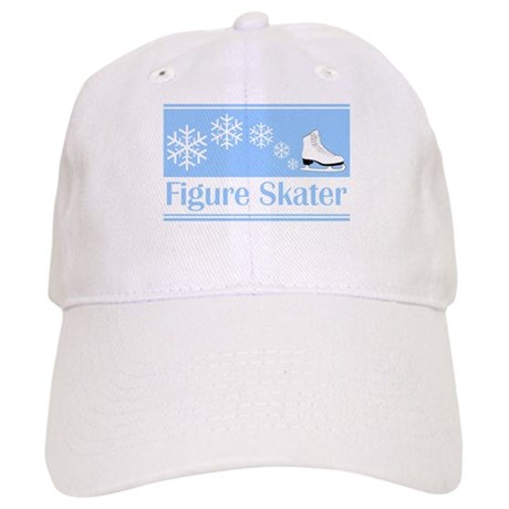 Figure Skater Blue Ice Skate Cap