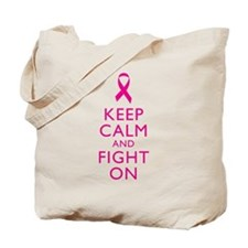 Keep Calm And Fight On Breast Cancer Support Tote
