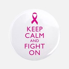 """Keep Calm And Fight On Breast Cancer Support 3.5"""""""