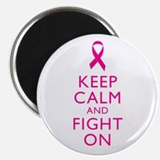 """Keep Calm And Fight On Breast Cancer Support 2.25"""""""