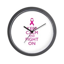 Keep Calm And Fight On Breast Cancer Support Wall