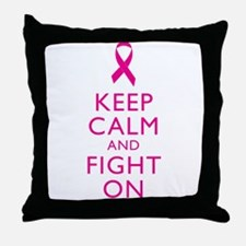 Keep Calm And Fight On Breast Cancer Support Throw