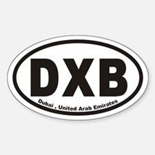 DXB Dubai , United Arab Emirates Oval Decal