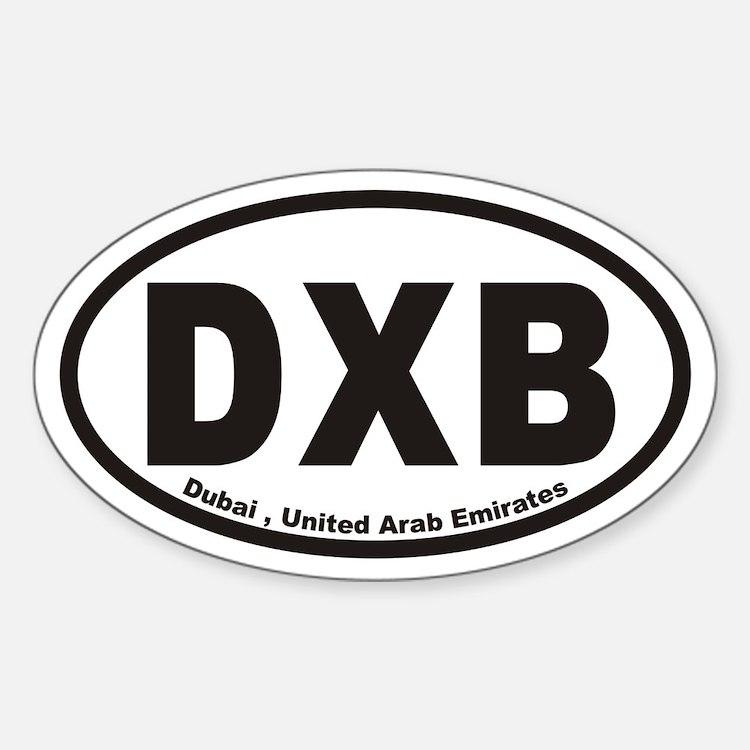 DXB Dubai , United Arab Emirates Oval Decal