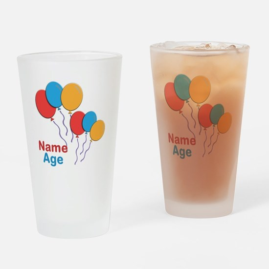 CUSTOMIZE Happy Birthday Any Age Drinking Glass