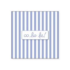 Oo La La on French Blue Stripes Sticker