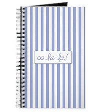 Oo La La on French Blue Stripes Journal
