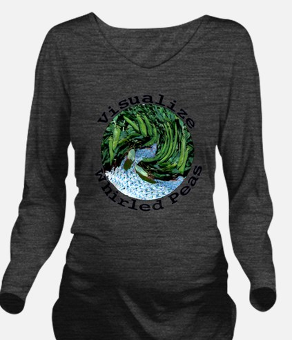Visualize Whirled Peas Long Sleeve Maternity T-Shi
