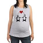 Penguin Hearts Maternity Tank Top