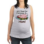 Christmas Ham Maternity Tank Top