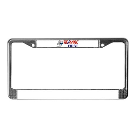 Remax_First_logo_stacked _balloon License Plate Fr