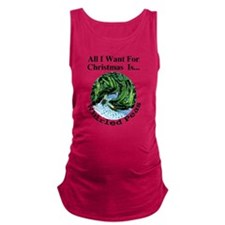 Christmas Peas Maternity Tank Top