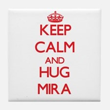 Keep Calm and Hug Mira Tile Coaster
