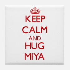 Keep Calm and Hug Miya Tile Coaster