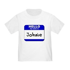 hello my name is johnie T