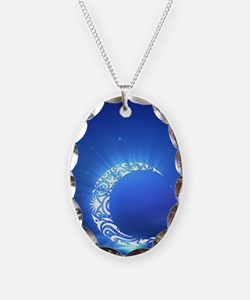 Tribal Crescent Moon Necklace