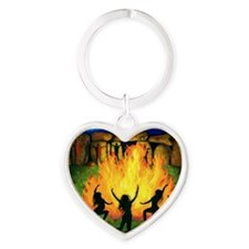 Full Moon Dancing Heart Keychain