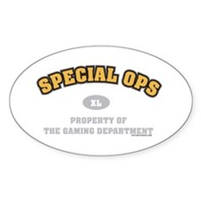 Special Ops Dept Oval Decal