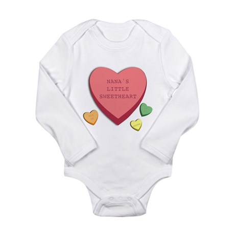 """Nana's's Little Sweetheart"" Infant Creeper Body S"