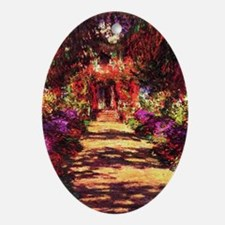 Garden Path by Claude Monet Oval Ornament