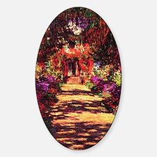 Garden Path by Claude Monet Sticker (Oval)