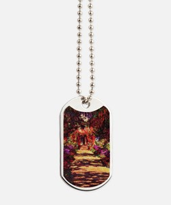 Garden Path by Claude Monet Dog Tags