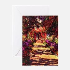 Garden Path by Claude Monet Greeting Card