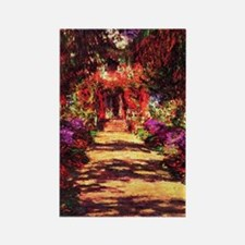 Garden Path by Claude Monet Rectangle Magnet