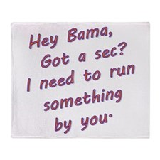 Cute Bama Throw Blanket