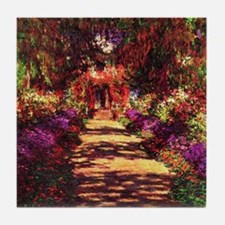 Garden Path by Claude Monet Tile Coaster