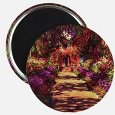 Garden Path by Claude Monet Magnet