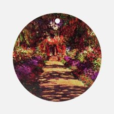 Garden Path by Claude Monet Round Ornament