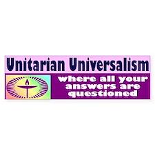 UNITARIAN Bumper Bumper Sticker