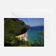 Na Pali Coast Line Greeting Card