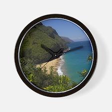 Na Pali Coast Line Wall Clock