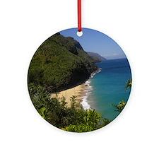 Na Pali Coast Line Round Ornament